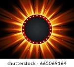 retro light sign. vintage style ...   Shutterstock . vector #665069164
