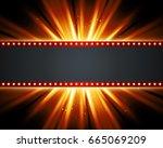 retro light sign. vintage style ... | Shutterstock . vector #665069209