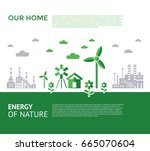 digital vector green city... | Shutterstock .eps vector #665070604