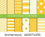 pattern tile swatches included. ... | Shutterstock .eps vector #665071450