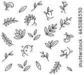green floral decorative branch... | Shutterstock .eps vector #665088550
