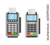 pos terminal vector... | Shutterstock .eps vector #665095360