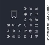 bookmark icon in set on the...