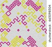 background spiral square... | Shutterstock .eps vector #665098504