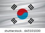 south korea flag vector | Shutterstock .eps vector #665101030