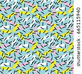 cool geometry seamless pattern...   Shutterstock .eps vector #665115940
