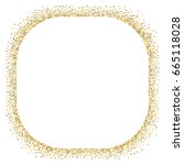 gold glitter border vector on... | Shutterstock .eps vector #665118028