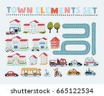 vector cartoon illustration set ... | Shutterstock .eps vector #665122534