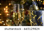christmas rustic background... | Shutterstock . vector #665129824