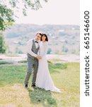 lovely full length portrait of... | Shutterstock . vector #665146600