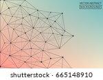 line vector. abstract... | Shutterstock .eps vector #665148910