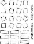 vector rough shape  grunge...   Shutterstock .eps vector #665149048