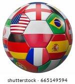poland football with world... | Shutterstock . vector #665149594