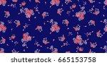 simple gentle pattern in small...   Shutterstock . vector #665153758