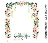 Watercolor Floral Wedding Arch...