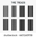 tyre treads vector | Shutterstock .eps vector #665160958