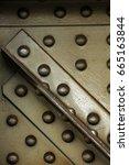 steel screws and beam beams   Shutterstock . vector #665163844