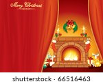 christmas day   illustrated... | Shutterstock .eps vector #66516463