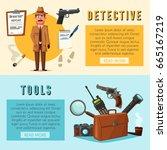 funny detective character....   Shutterstock .eps vector #665167219