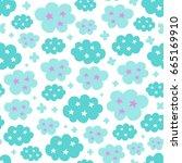 seamless creative pattern.... | Shutterstock .eps vector #665169910