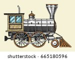 engraved vintage  hand drawn ...   Shutterstock .eps vector #665180596