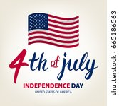 fourth of july usa independence ...   Shutterstock . vector #665186563