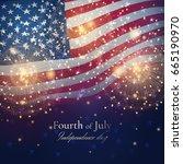 independence day celebration... | Shutterstock .eps vector #665190970