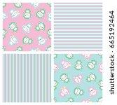 pattern monkey | Shutterstock .eps vector #665192464