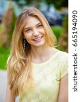 portrait close up of young... | Shutterstock . vector #665194090