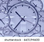 close up of office watch time... | Shutterstock . vector #665194600