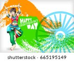 happy independence day of india ...   Shutterstock . vector #665195149