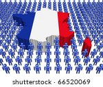 france map flag surrounded by...   Shutterstock . vector #66520069