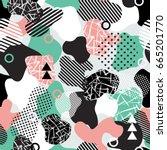 vector abstract seamless... | Shutterstock .eps vector #665201770
