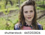 young teenager out in the... | Shutterstock . vector #665202826