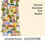 seamless vertical banner... | Shutterstock .eps vector #665205988