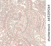 floral paisley pattern.... | Shutterstock .eps vector #665209264