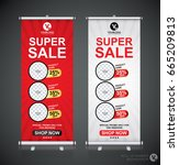 roll up big sale banner... | Shutterstock .eps vector #665209813