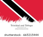 flag of trinidad and tobago ... | Shutterstock .eps vector #665215444