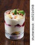 berry dessert | Shutterstock . vector #665216548