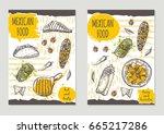 mexican food brochure flyer... | Shutterstock .eps vector #665217286