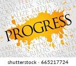 progress word cloud  technology ...   Shutterstock . vector #665217724