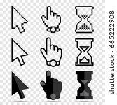 mouse cursor icons  pixel ... | Shutterstock .eps vector #665222908