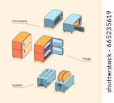 vector isometric device set of... | Shutterstock .eps vector #665235619