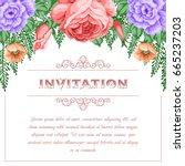 bridal shower or wedding... | Shutterstock .eps vector #665237203