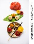 indian festival   indian sweet... | Shutterstock . vector #665240674