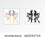 frame with shadow on a... | Shutterstock .eps vector #665242714