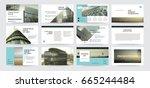original presentation templates.... | Shutterstock .eps vector #665244484
