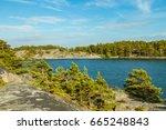the archipelago sea is finland... | Shutterstock . vector #665248843