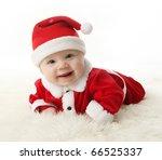 Happy Smiling Baby Lying On...