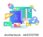 process of creating web page... | Shutterstock .eps vector #665253700